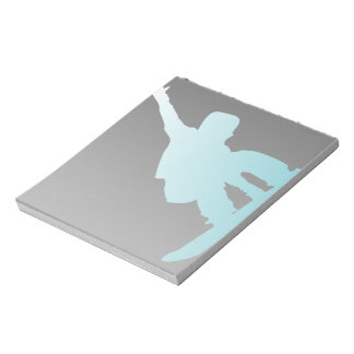 Bloc De Notas snowboarder del azul de la pendiente