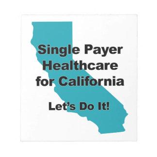 Bloc De Notas Sola atención sanitaria del pagador para