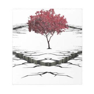 Bloc De Notas Solo árbol aislado de la naturaleza triste