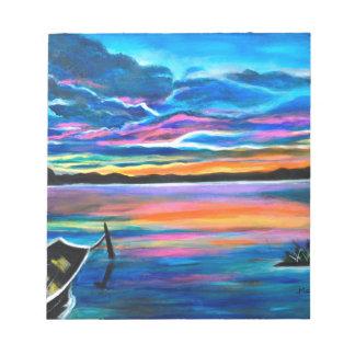 Bloc De Notas Solo izquierdo una pintura del barco del paisaje