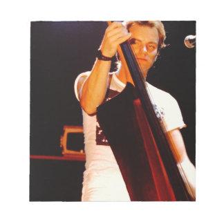 Bloc De Notas Sting que toca el violoncelo