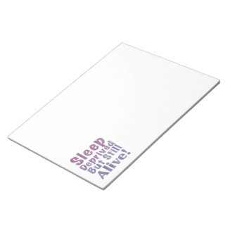 Bloc De Notas Sueño privado pero aún vivo en púrpuras