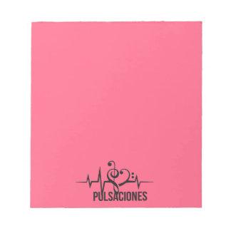 Bloc De Notas Tag Pulsaciones Pink