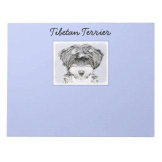 Bloc De Notas Terrier tibetano