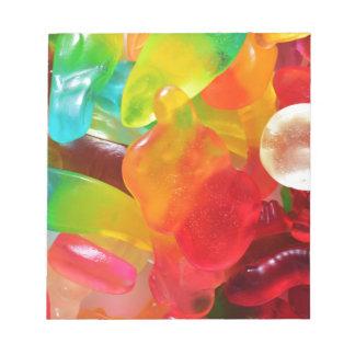 Bloc De Notas textura colorida de la goma de la jalea