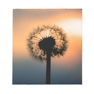 Bloc De Notas The Sunset and the Fragile Dandelion