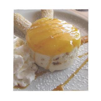 Bloc De Notas Torta cubierta atasco del helado del albaricoque