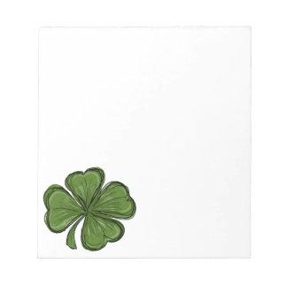 Bloc De Notas Trébol del día de St Patrick
