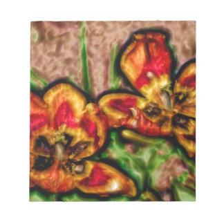 Bloc De Notas Un bosquejo del dúo del Tulipa