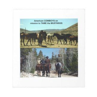 Bloc De Notas Vaqueros americanos en viaje a los caballos del