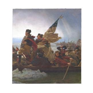 Bloc De Notas Washington que cruza arte del vintage del Delaware