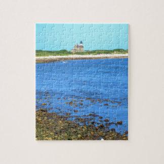 Block Island de la luz del norte Puzzle