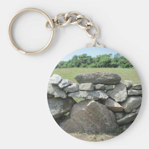Block Island de la pared de piedra Llaveros Personalizados