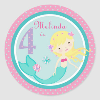 Blonde 4 del pegatina de little mermaid