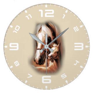 Blondes occidentales reloj redondo grande