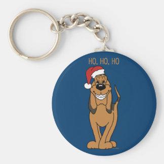 Bloodhound Santa Llavero Redondo Tipo Chapa