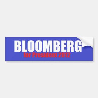 Bloomberg 2012 etiqueta de parachoque