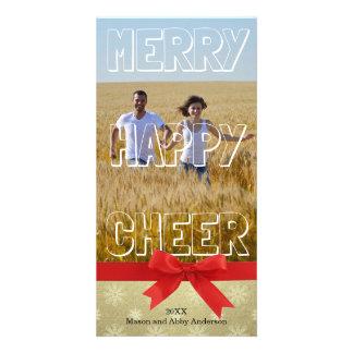 Bloque blanco de la feliz alegría feliz - tarjeta