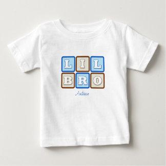 Bloque de palabra lindo de Lil Bro con nombre Camiseta De Bebé