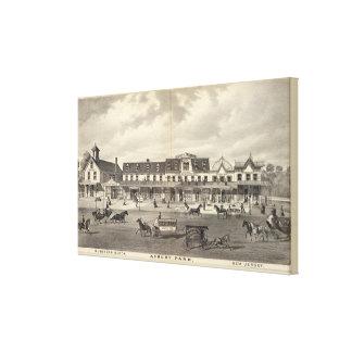Bloque del negocio, parque de Asbury, New Jersey Impresión En Tela