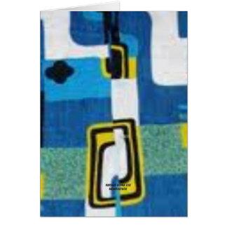 Bloque moderno (camisa de hawaiana del vintage) tarjeton