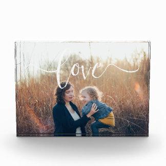 Bloque moderno de la foto del amor el |