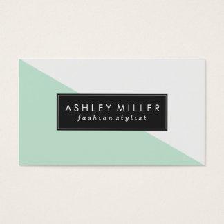 Bloque moderno del color de la verde menta tarjeta de visita