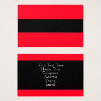 Bloque negro rojo elegante 4Adrian del color Tarjeta De Negocios