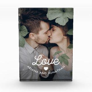 Bloque Para Fotos Amor retro del texto el | con un corazón