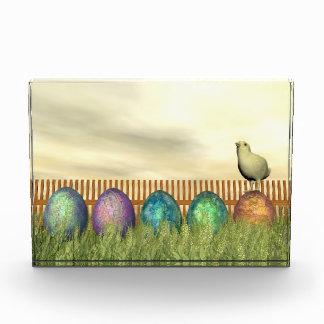 Bloque Para Fotos Huevos coloridos para pascua - 3D rinden