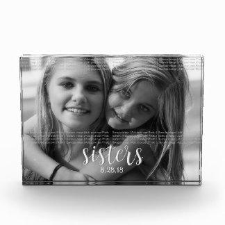 Bloque Para Fotos Las hermanas lo personalizan