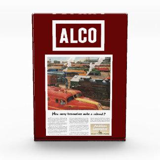Bloque Para Fotos Las locomotoras de Alco hacen un ferrocarril