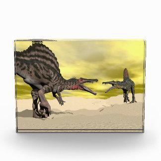 Bloque Para Fotos Lucha del dinosaurio de Spinosaurus - 3D rinden