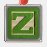 Bloque Z del juguete del alfabeto Ornaments Para Arbol De Navidad