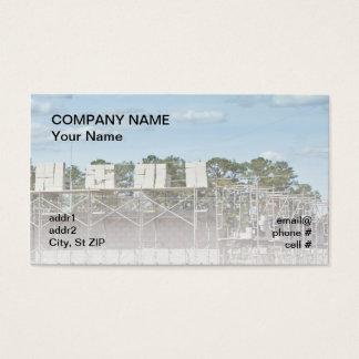 bloques de cemento en el andamio tarjeta de negocios