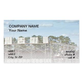 bloques de cemento en el andamio tarjetas de visita