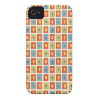 Bloques geométricos abstractos del vintage Case-Mate iPhone 4 coberturas