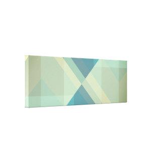 Bloques geométricos modernos, impresión de la lona