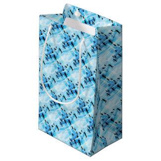 Bloques huecos de la gente del equipo del negocio bolsa de regalo pequeña