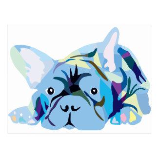 Blue French Bulldog Postal