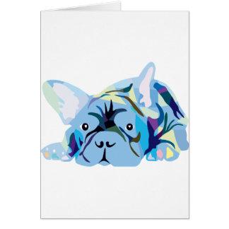 Blue French Bulldog Tarjetón