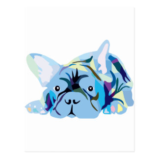 Blue French Bulldogs Postal