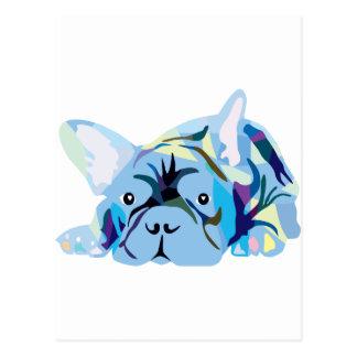 Blue French Bulldogs Postal