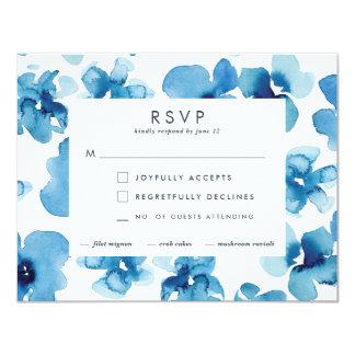 *Blue Garden* RSVP de la invitación del boda