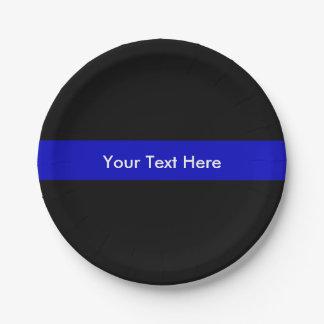 Blue Line fino limpia la ayuda de la ley Plato De Papel