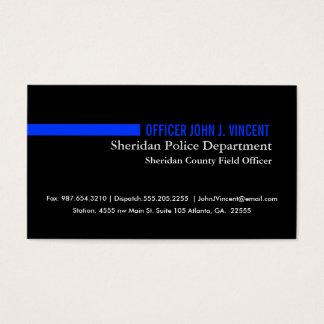 Blue Line fino moderno limpia Tarjeta De Visita