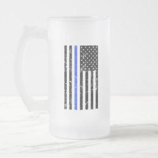 Blue Line fino - oficial de policía - taza de
