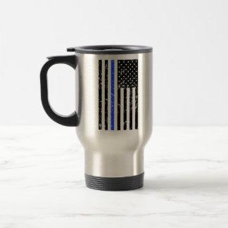 Blue Line fino - oficial de policía - taza de café
