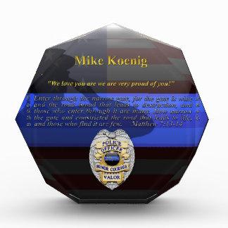 Blue Line fino - personalizado de Koenig placa del