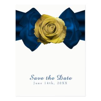 Blue Ribbon y reserva del rosa amarillo la fecha Postal